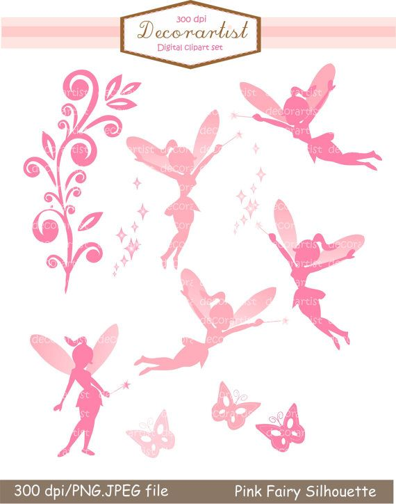 fairy clip art silhouette clip art pink fairy silhouette