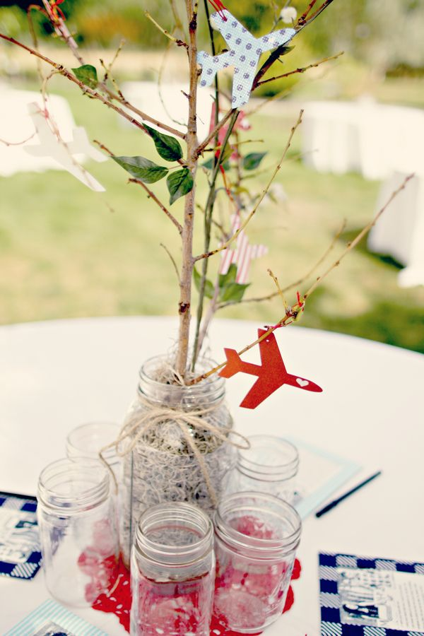 18 Best Images About Airplane Centerpieces On Pinterest