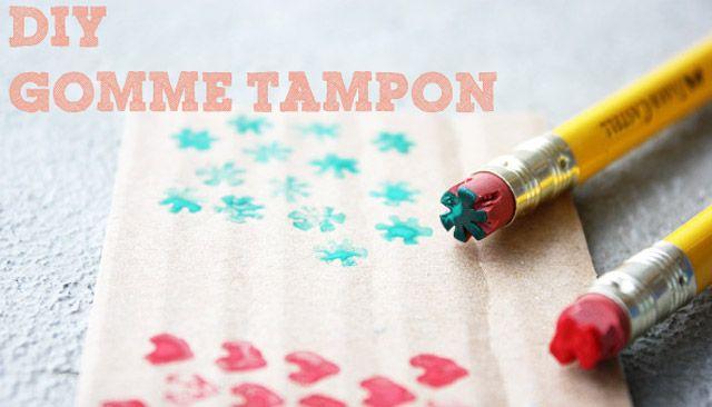 Gomme tampon – un DIY pour retomber en enfance