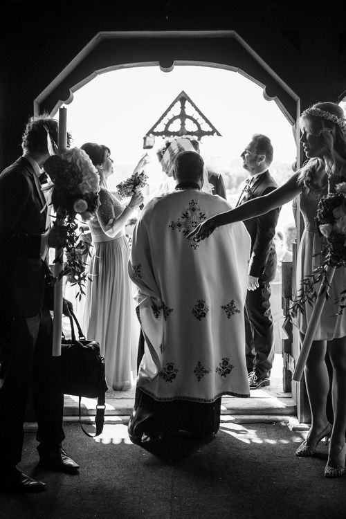 Traditional romanian orthodox wedding