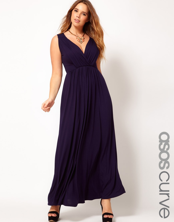 ASOS CURVE Maxi Dress With Grecian Detail   # Pinterest++ for iPad #
