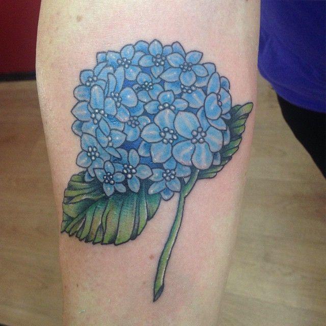 Hydrangea Tattoo by Benga