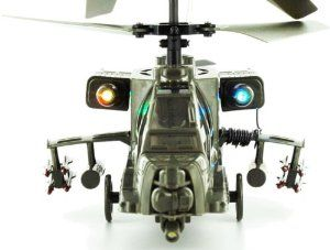 RC Toys Village New Model Apache Military 3CH RC Helicopter - Bonus 1 Motor, Value of .... $37.90. 3.7V 400mAh Li-polymer Rechargeable Battery. A 30-45 minutes charge equal to 8-15 minutes flight.. Brand New & Ready-2-Fly 3CH Apache Military RC Helicopter. The Best RC Apache Helicopter in the Market.. Suitable for Indoor flight or outdoor with NO wind. Suitable for Children 14+ ages. Include  1 Motor, Value of $10.Great Quality. Great Gifts for Everyone! ROHS and CE ...