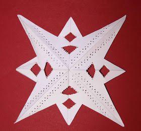 DIY: Einen Scherenschnitt Stern Ohne Schere Einfach Prickeln. Basteln Für  Weihnachten Und Advent Auch