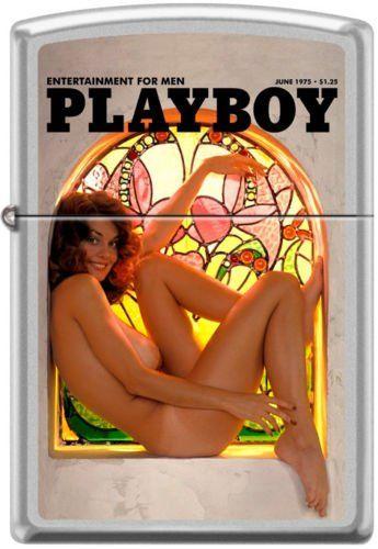 Zippo Playboy June 1975 Cover Satin Chrome Windproof Lighter RARE (