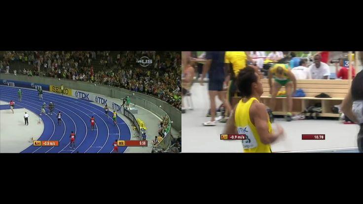 World's Fastest vs World's Slowest 100m Ever. Usain Bolt vs Tuvalu
