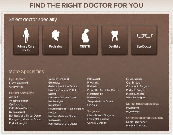 Better Doctor empowers people to find and compare doctors or dentists based off on the desired speciality and insurance. This website not only offers reviews and comparisons on eye doctors, all specialists, surgeons, mental health specialists, and other medical professionals.  Read more: Best Website For Finding a Doctor or Caregiver http://www.medicalrecords.com/finding-a-doctor-or-caregiver