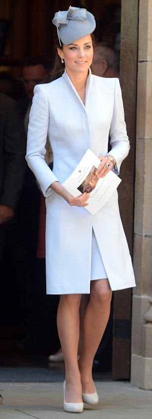 The Duchess of Cambridge, pictured in Alexander McQueen in Sydney in April 2014
