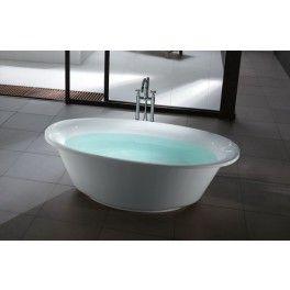 Soft Freestanding Oval Bath. This freestanding bath with a contemporary minimalistic design is ideal for a medium sized bathroom.  Description:  Dimension (MM): Bathtub1800 x 950 x 580