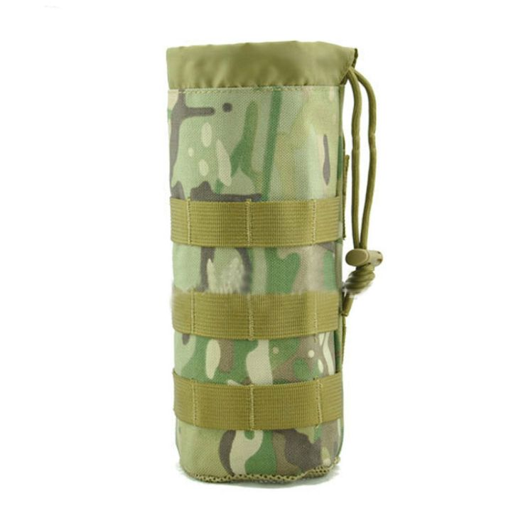 Molle Portable Kettle Pouch 1000D Nylon Bottle Pouch  Outdoor Camping Hiking Equipment Tactical Accessory Bag