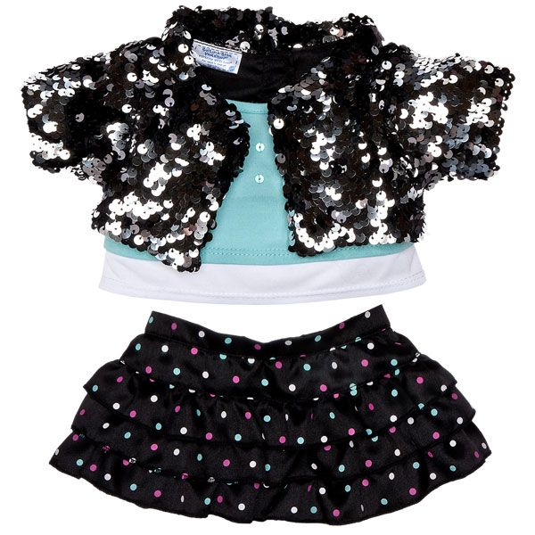 Shake It Up Sequin Jacket & Skirt Outfit 2 pc. - Build-A-Bear Workshop US
