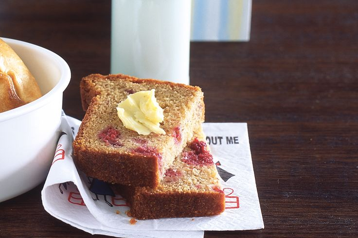 Add juicy sweet raspberries to this breakfast favourite for a twist on traditional banana bread.