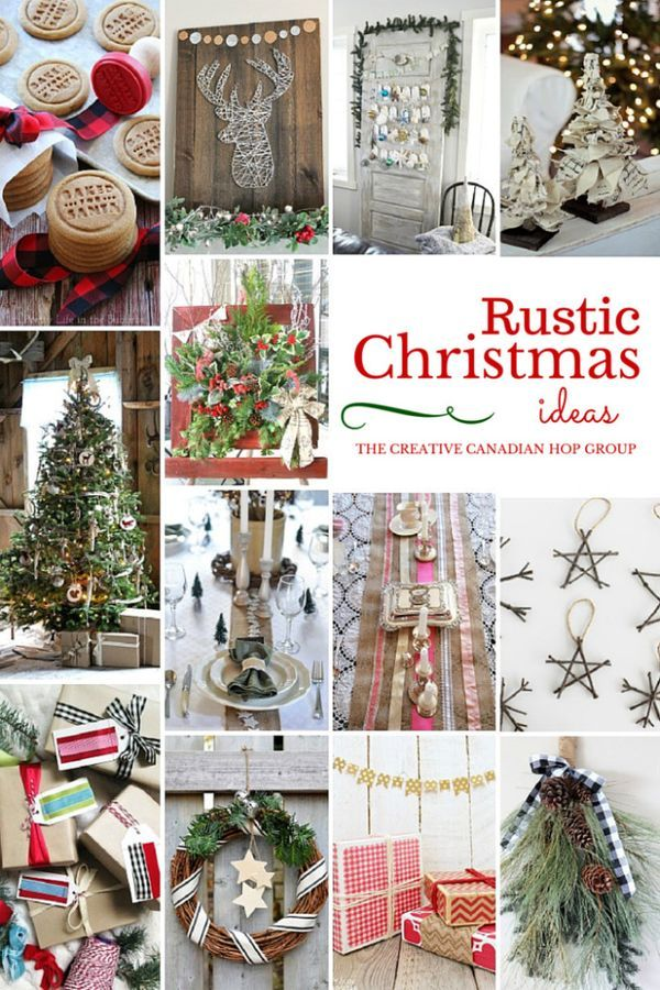 Rustic Christmas Ideas. A Collection Of FABULOUS DIY Rustic Christmas Home Decor  Ideas And Crafts