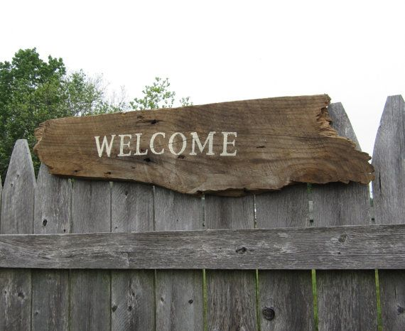 Barn Board Welcome Sign Rustic Home Decor Reclaimed Wood Signs