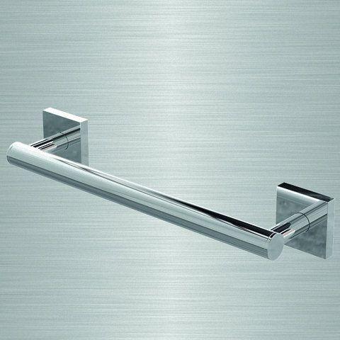 Barre d'appui - Velena Abstract - Lisse - Droite - L 30 cm - Chromé