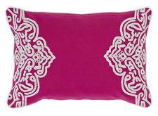 """HOME"" by J Elliott 'Sandringham' Cushion Fuschia Pink White 33 x 48 Bed Sofa"
