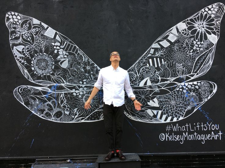 "William Cokeley  2015, NYC ""Self portrait with wings"""