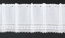Scheibengardine Batist Häkelspitze  Breite: 10,5 cm | Farbe: weiß | Höhe wählbar