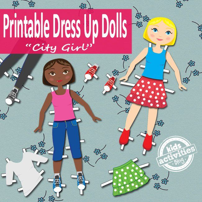 Dress Up Dolls Free Kids Printable