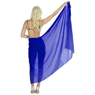 Sheer Chiffon Plain Beach Hawaiian Plus Size Wrap Sarong - Sears