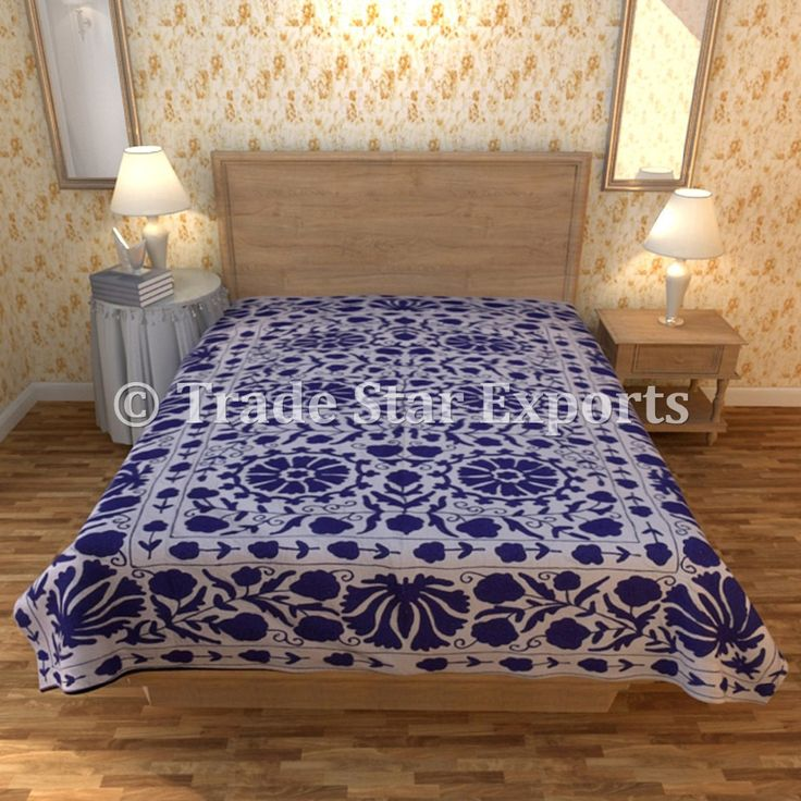 Suzani Bed Cover Vintage Embroidered Bedspread Cotton Handmade Bedding Throw - Buy Suzani Embroidered Bedspread,Cotton Ethnic Wall Hanging,Uzbek Bedding Product on Alibaba.com