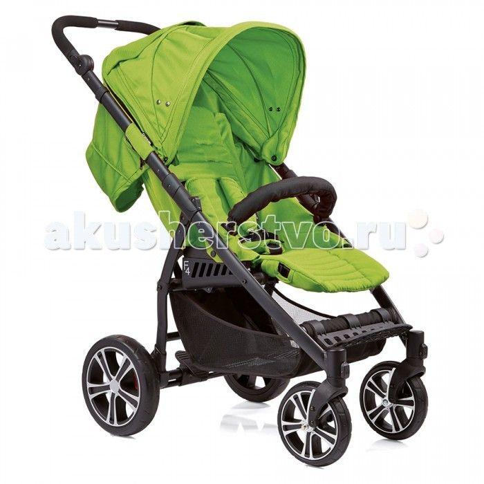 Прогулочная коляска Gesslein S4 Air+  Прогулочная коляска Gesslein S4 имеет легкую и хорошо спроектированную раму весом всего 9.9 кг.  Регулируемая по углу наклона поверхность размером 86x33 см обеспечит вашему малышу комфорт в любом положении – спинка сиденья может наклоняться почти до горизонтального положения. Мягкие пятиточечные ремни безопасности и регулируемый съемный бампер оберегают ваше маленькое чадо от падений и резкого вставания.  Коляской S4 может управлять даже ребенок…