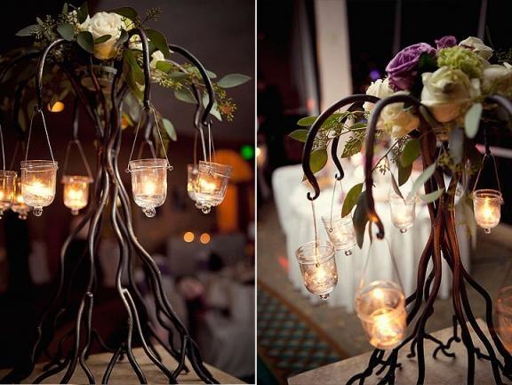 table arrangement lanterns