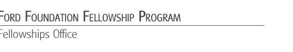 ford foundation dissertation fellowship for minorities
