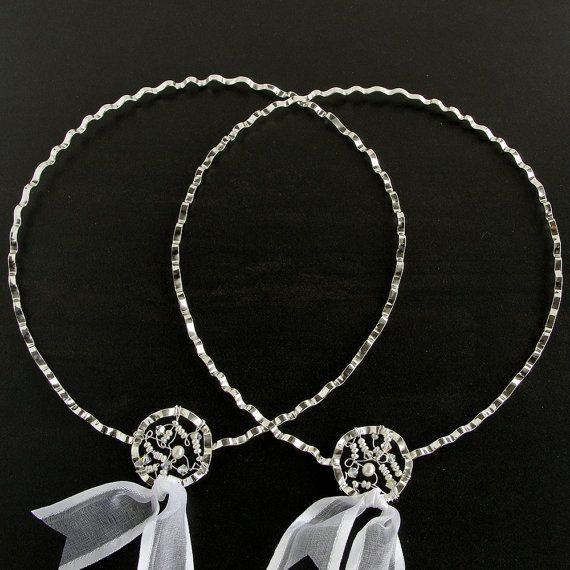 Stefana pair of greek wedding crowns orthodox by emmanuelaGR