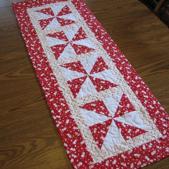 Valentines Tablerunner 4 By Lmkquilts On Etsy, $35.00