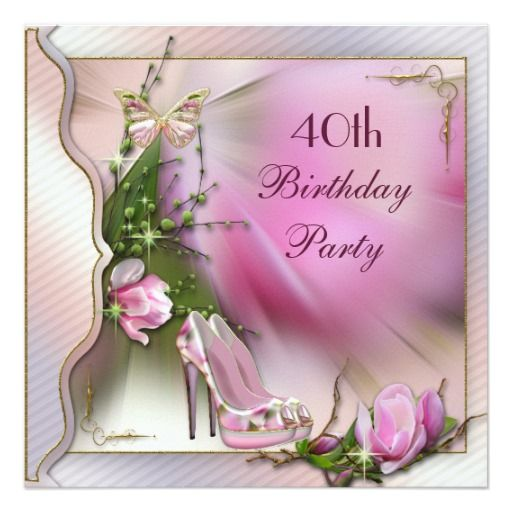 405 best Butterfly Birthday Party Invitations images – 40th Birthday Invitation Cards