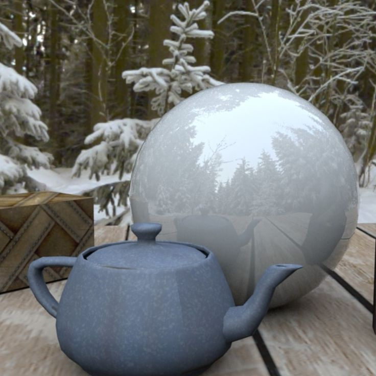 Textured with substance materials, lit with HDRI image. Rendered in Maya.