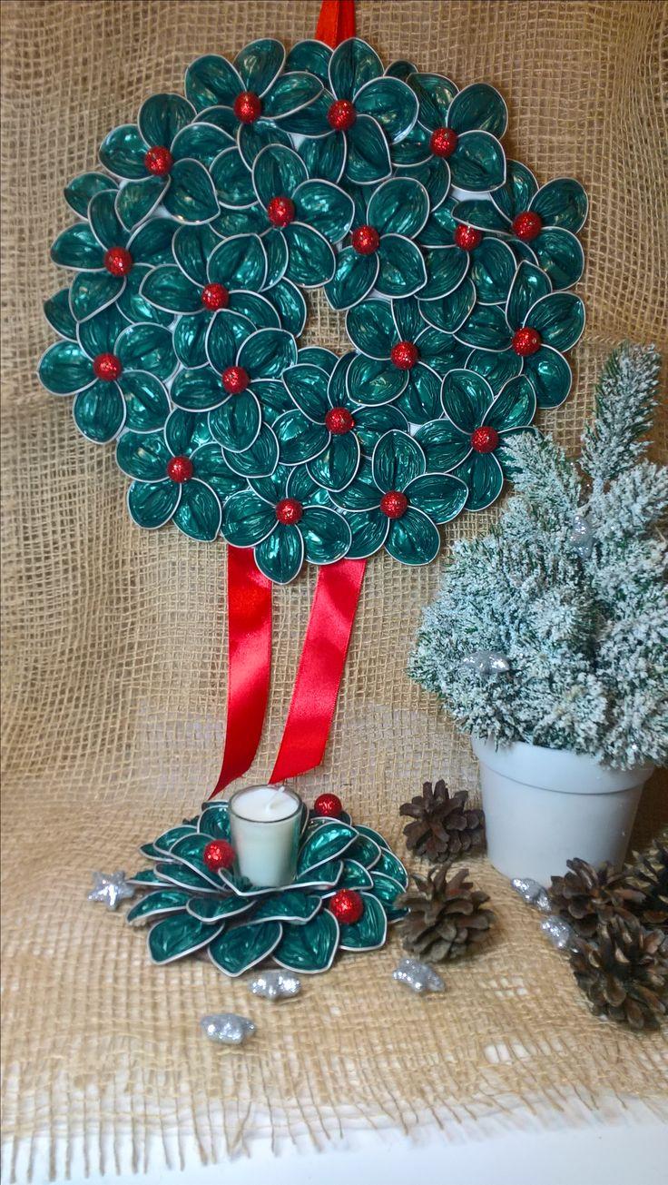 dekoracja Bożonarodzeniowa z kapsułek Nespresso