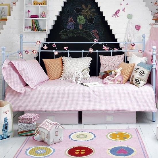 Girlu0027s Bedroom Furniture Ideas 3) Pick Versatile Furniture. A Day Bed Will  Last Through