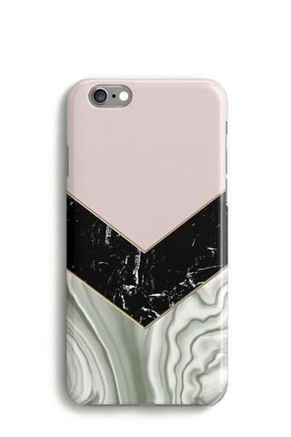 Agate Marble Chevron Phone Case, iPhone, Samsung, Google Pixel, Cream Pink