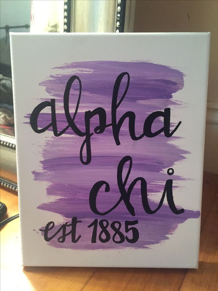 Alpha Chi painted sorority canvas