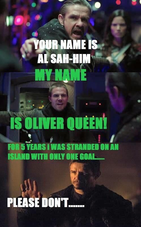 Ahaha Rha's don't have time for that! #Arrow