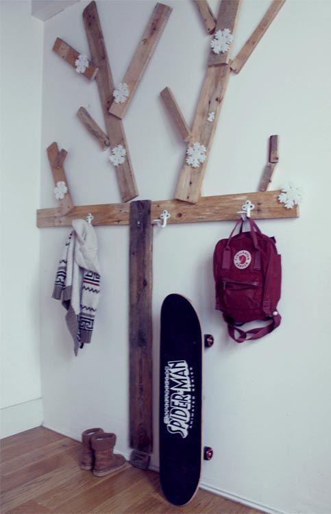 DIY tree cloth rack. Love this idea!