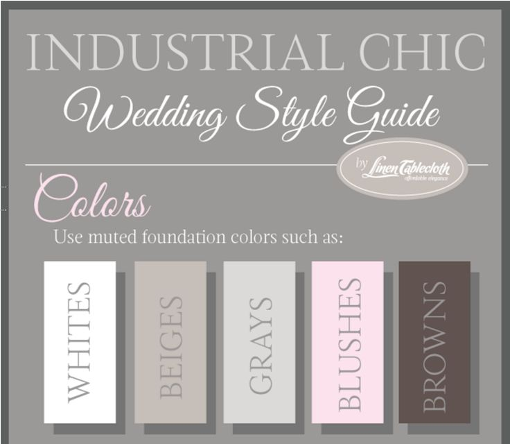 Looking for some awesome wedding theme ideas? Check out this industrial chic wedding style guide for some killer ideas!