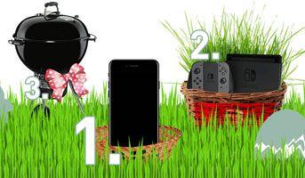 Jetzt beim #Ostergewinnspiel von Glaströsch mitmachen und ein iPhone 7 mit 128GB, eine Nintendo Switch Spielkonsole oder einen Weber Master-Touch Grill gewinnen. Viel Glück und frohe Ostern.  https://www.alle-schweizer-wettbewerbe.ch/gewinne-iphone-7-nintendo-switch-oder-grill/