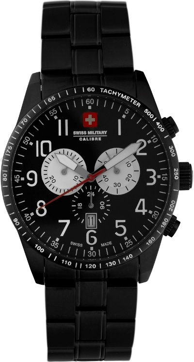 Swiss Military Calibre Mens 06-5R4-13-007 Red Star Chronograph Watch