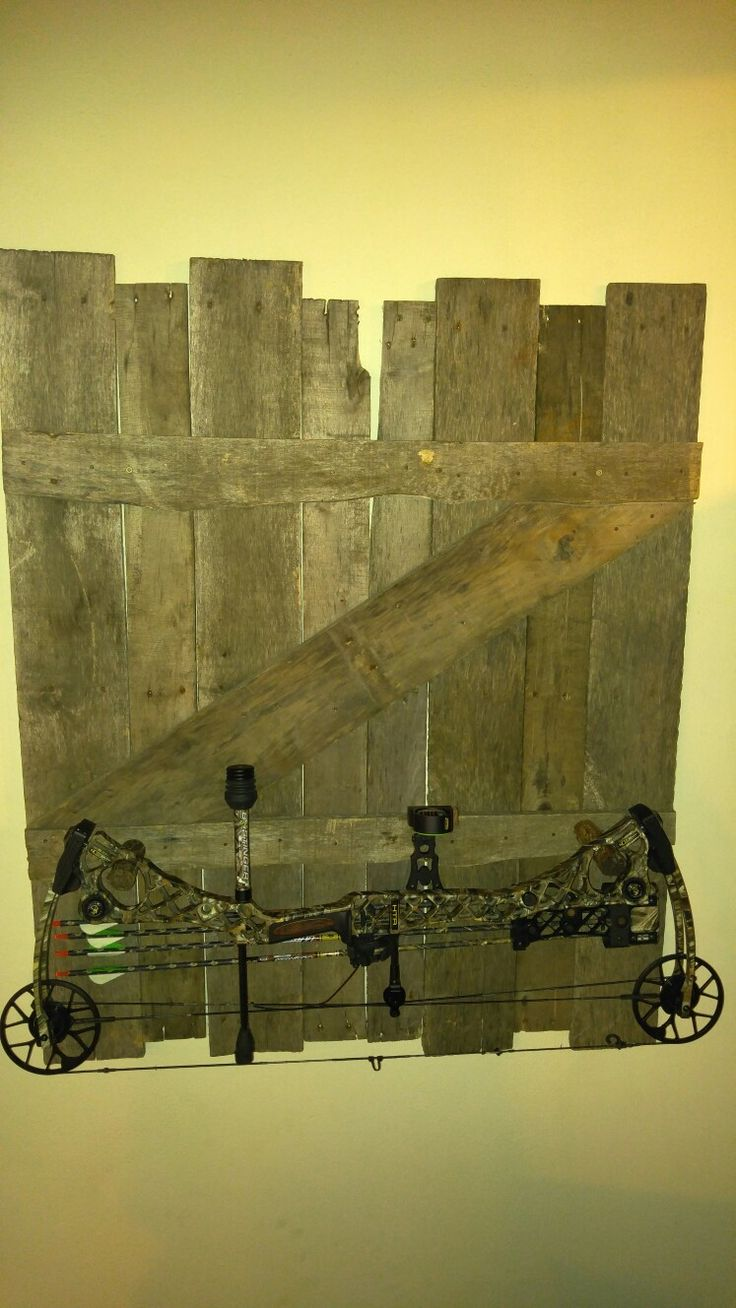 Wood pallet bow rack                                                       …