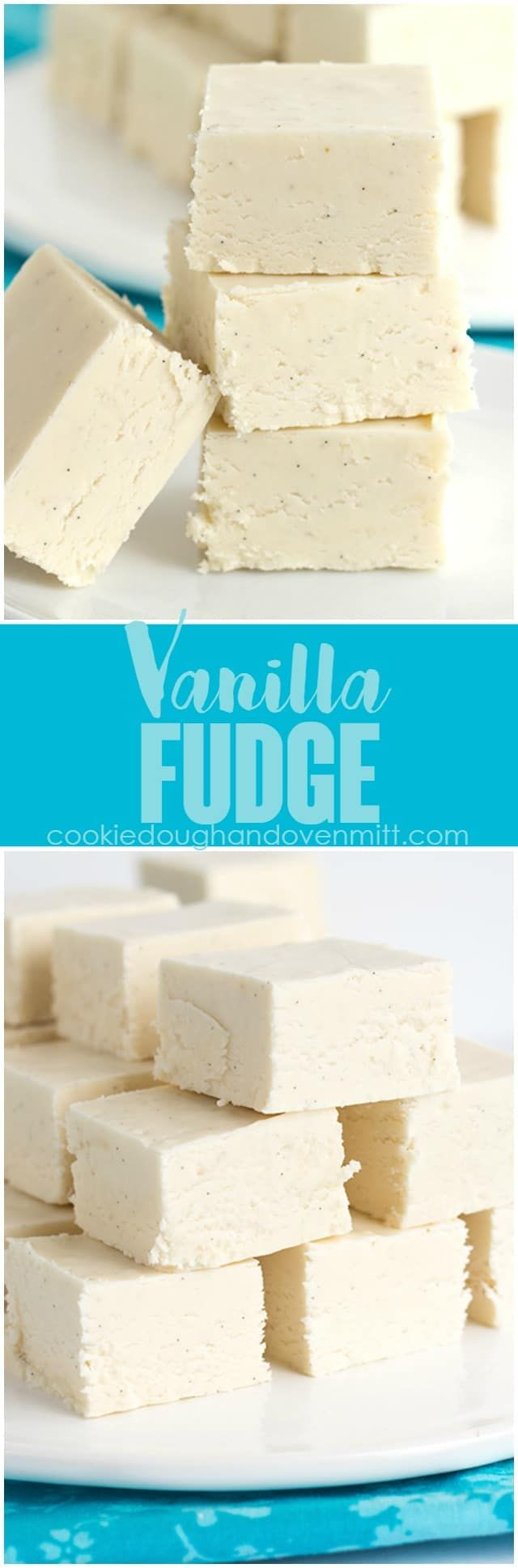 Vanilla fudge is smooth and creamy and so delicious. It's packed full of specks of vanilla bean too! This vanilla fudge recipe is so simple to make, and it's fudge made with marshmallow creme, aka marshmallow fluff!