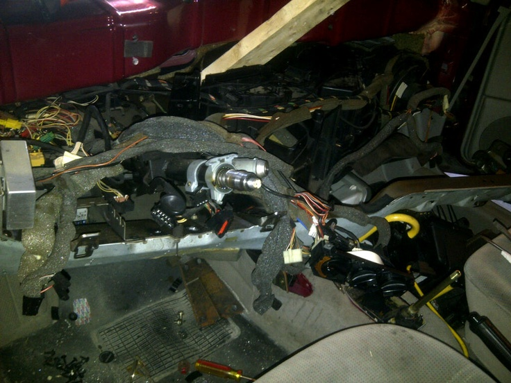 Halfway through heater core replacement in our  94 Jetta.