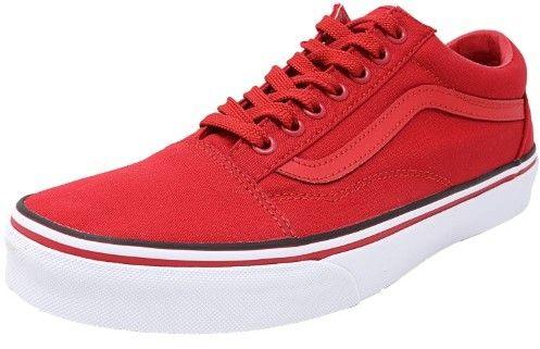 Vans Old Skool Solstice 2016 Red / White Black Canvas Skateboarding Shoe - 11M 9.5M