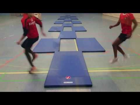 Lauf-ABC und Koordinationstraining mit Matten – YouTube – Nina