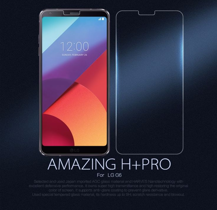 nice For LG G6 Tempered Glass Screen Protector NILLKIN Amazing H&H+Pro Nanometer Anti-Explosion glass protective film For LG G6