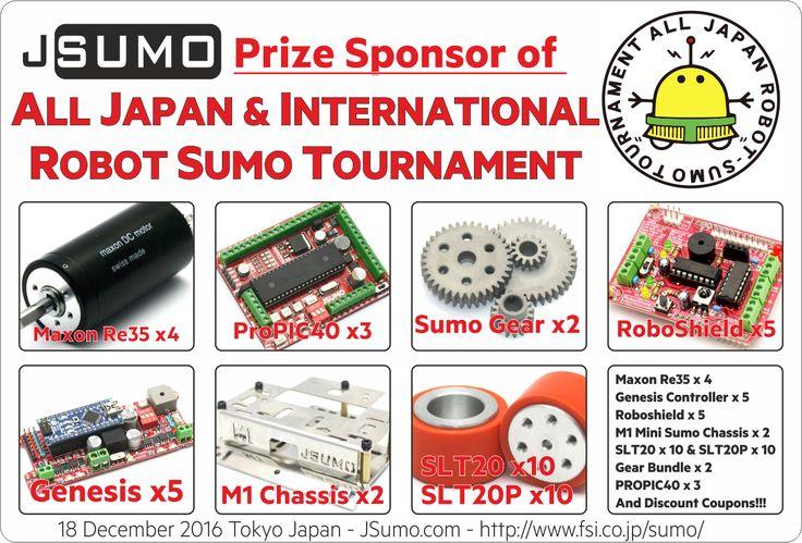 JSumo is prize sponsor of ALL International Robot Sumo Competition! We will have a desk at Tournament, find us! #jsumo, #sumorobot, #japan