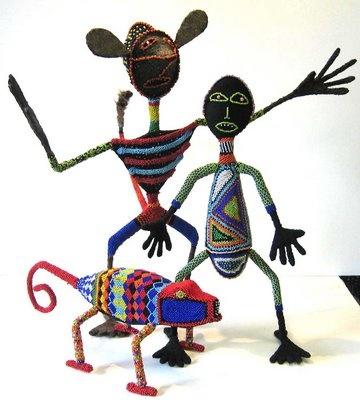 Beaded Sculptures- Ceasar Mkhize & Thafa Dlamini
