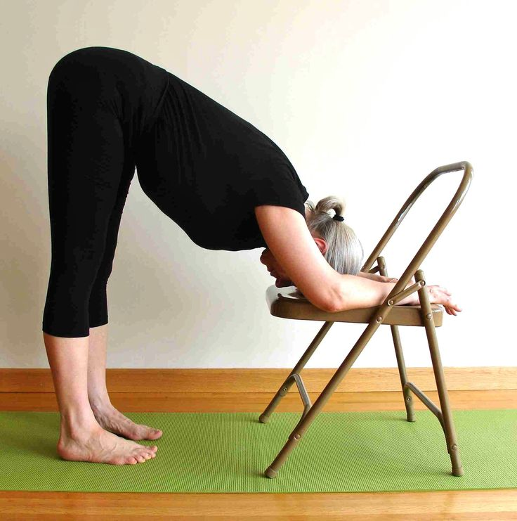 235 best yoga chair images on pinterest chair yoga for Chaise yoga iyengar